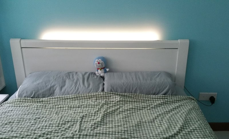 DIY Headboard With LED Lighting (After)