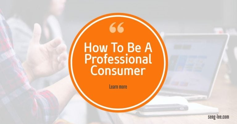 How To Be A Professional Consumer