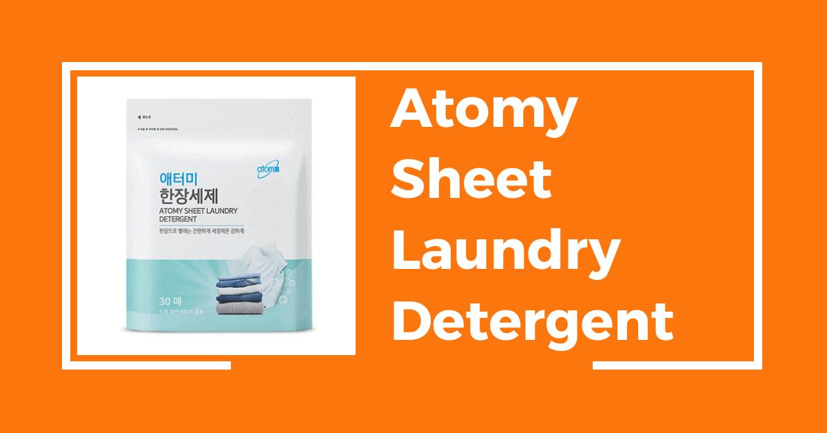 Atomy Sheet Laundry Detergent